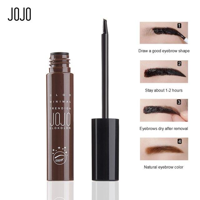 Jojo Makeup Coffee Brown Waterproof Peel Off Eyebrow Gel Long