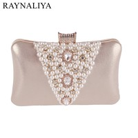 New Rhinestones Women Evening Bags Chain Handmade Craft Beaded Retro Handbags Purse Clutch Party Pillow Handbag XST A0011