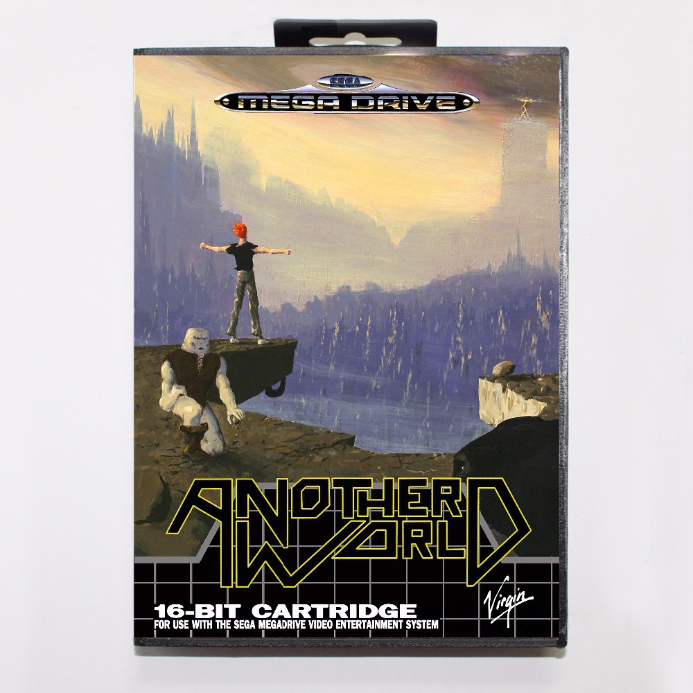 Out of this World (aka Another World) Game Cartridge 16 bit MD Game Card With Retail Box For Sega Mega Drive For Genesis