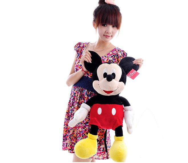 free shipping ,65 cm Mickey  plush toy cute doll throw pillow, baby ,girlfriend birthday gift b4325