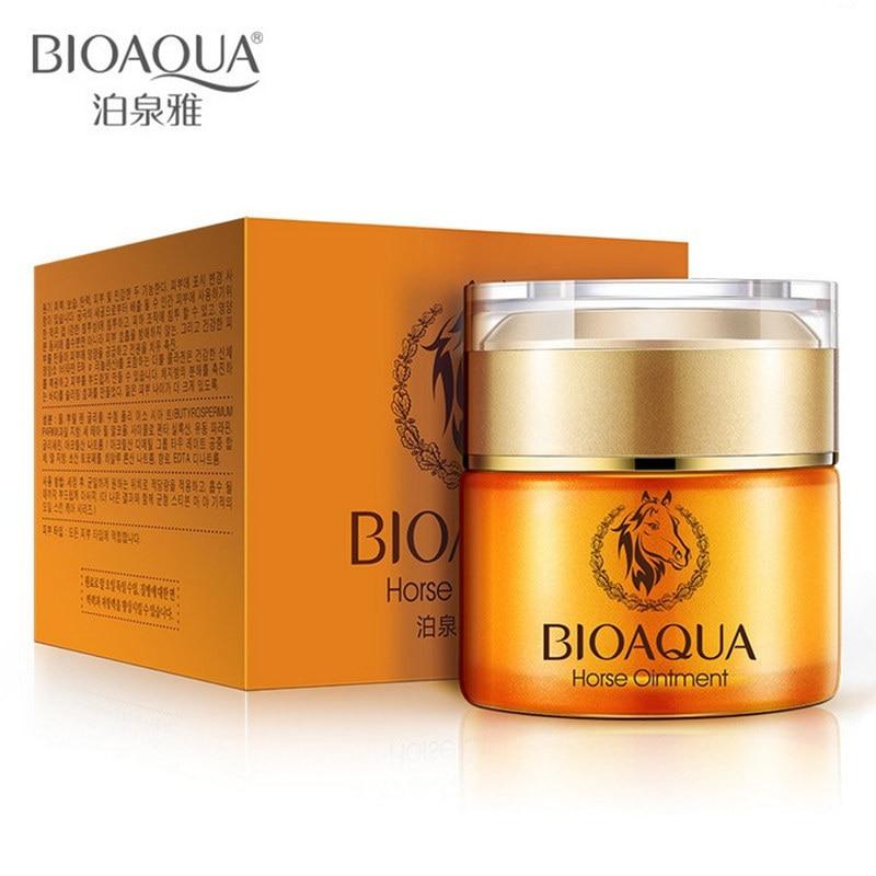 BIOAQUA Brand Skin Care Horse Oil Whitening Hydrating Moisturizing Face Cream Anti Wrinkle Anti-Aging Day 50g