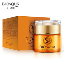 BIOAQUA Brand Skin Care Horse Oil Whitening Hydrating Moisturizing Face Cream Anti Wrinkle Anti-Aging Face Care Day Cream 50g цена