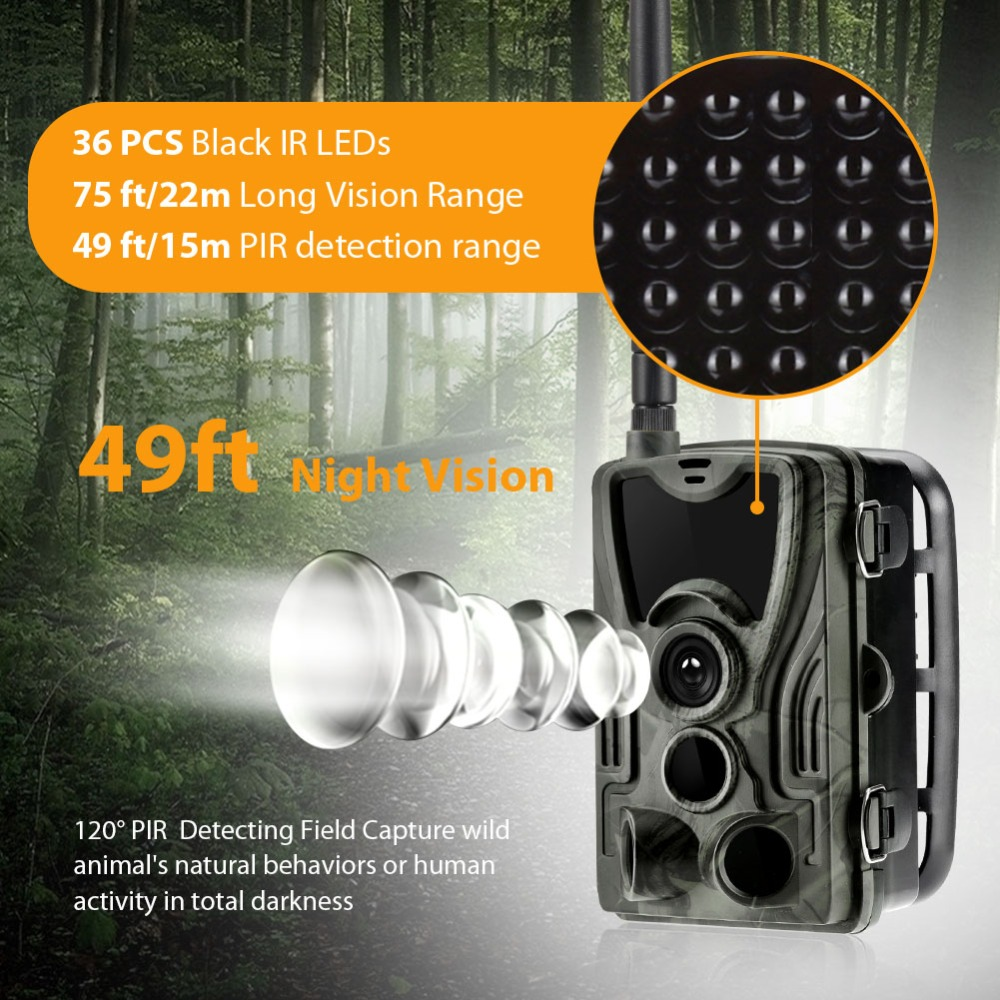 HC801G 3G MMS Trail Cameras 0.3S Trigger Time Hunting Camera Photo Trap 16MP 1080P Infrared Outdoor Wildlife Surveillance Cams