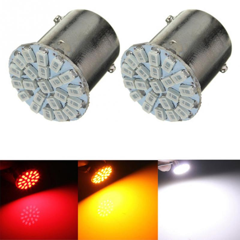2018 Newest BA15S P21W 1156 22 LED 1206 SMD Led Bulb Lamp Red/ White/ Yellow Led For Car Auto Tail Side Indicator Lights