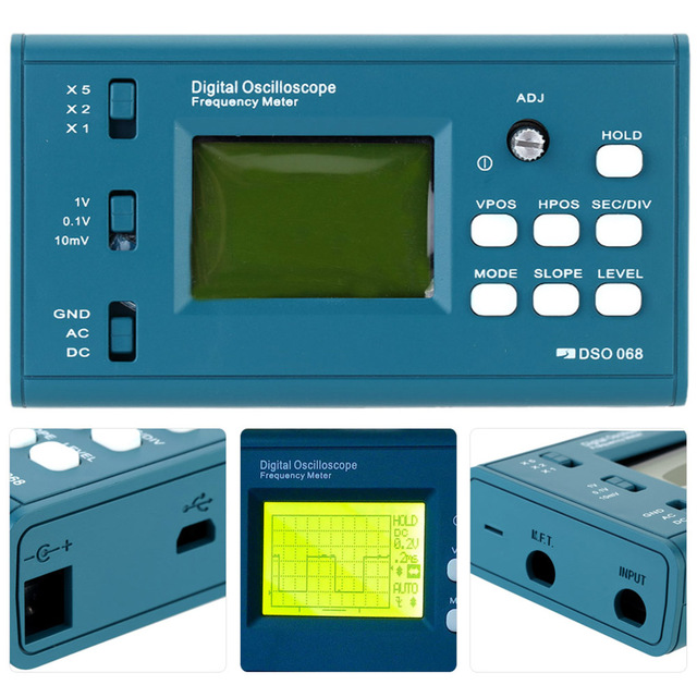 Best Price DSO068 Oscilloscope Digital Storage Oscilloscope DIY Kit Disassembled Parts with LCD 20MHz Probe Teaching Set