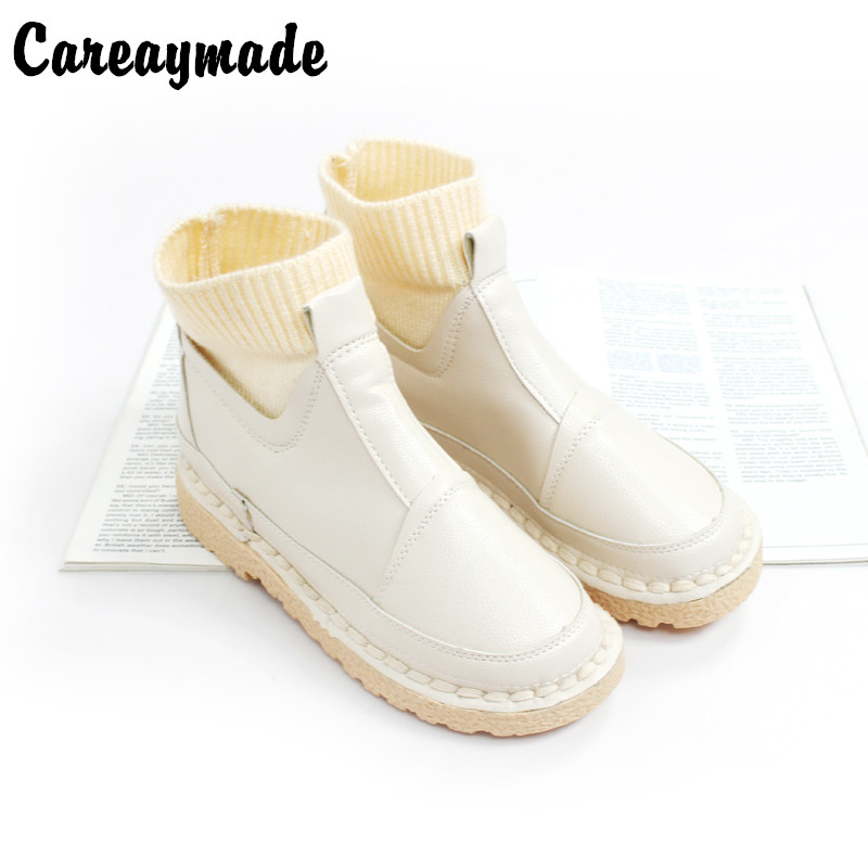 Free Shipping,2016 winter new hot sale art RETRO all-match leisure PU female boots Mori girl comfortable short boots,4 colors