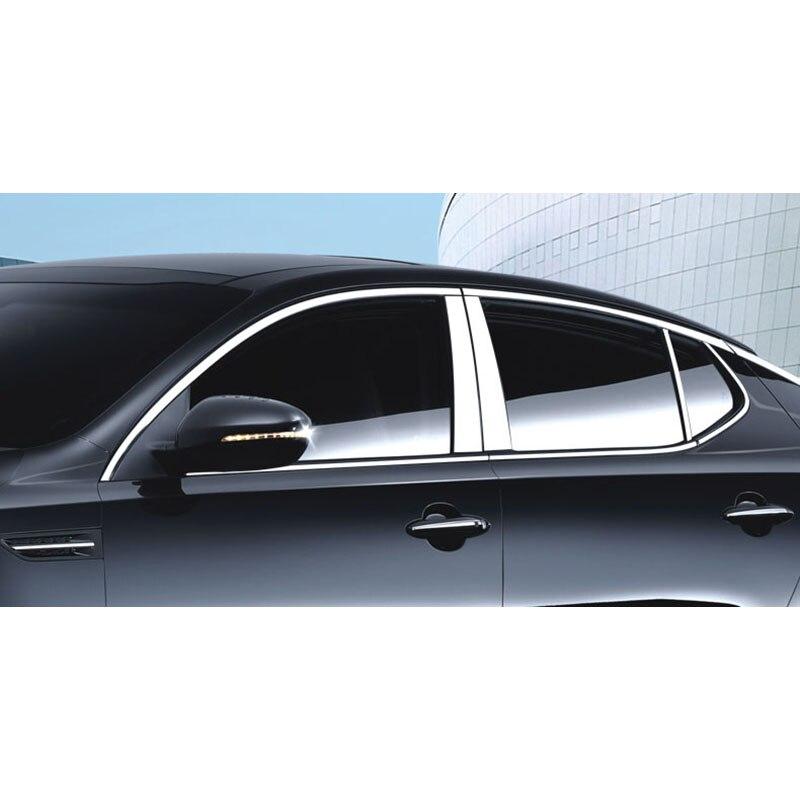 lsrtw2017 304 stainless steel car window trims for kia optima kia k5 2010 2011 2012 2013 2014 2015 for kia optima k5 2010 2015 inner front