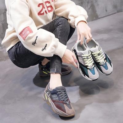 Chaussures Nouveau Légères 2019 Décontractées 2 Tête Ronde Sauvage Tendance 1 Version De Plates Harajuku Chaussure Coréenne Femmes hQdCtrBsx
