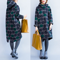 Free shipping medium-long plus size plus velvet thickening owl hoody sweatshirt maternity dress 5978