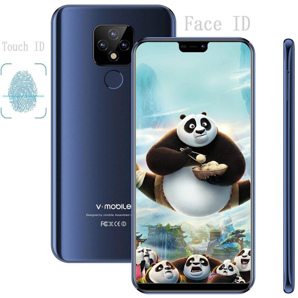 "TEENO Vmobile Mate 20 Mobile Phone Android 7.0 3GB+32GB 5.84"" 19:9 Screen Fingerprint 4G Celular Smartphone Unlocked Cell Phone"