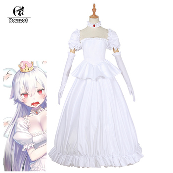 b7aebe6886aaa ROLECOS Bowsette Boosette Cosplay Costume Women Sexy Dress Anime ...