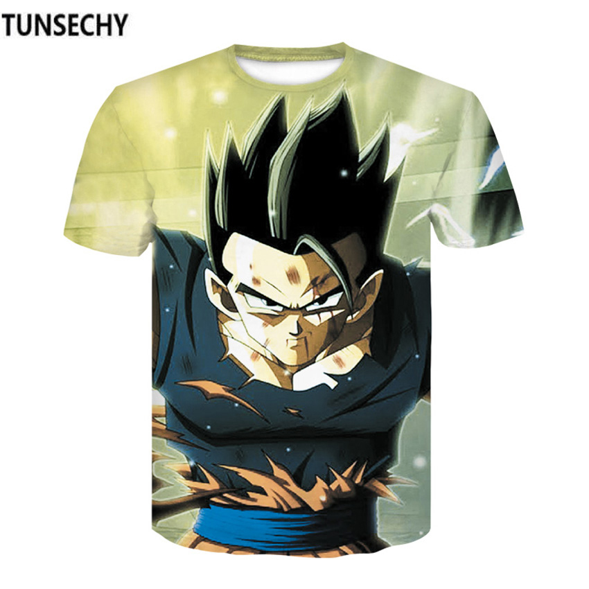 TUNSECHY Dragon ball 3D Digital printing T-shirt male Monkey King round collar short sleeve T-shirt Wholesale and retail
