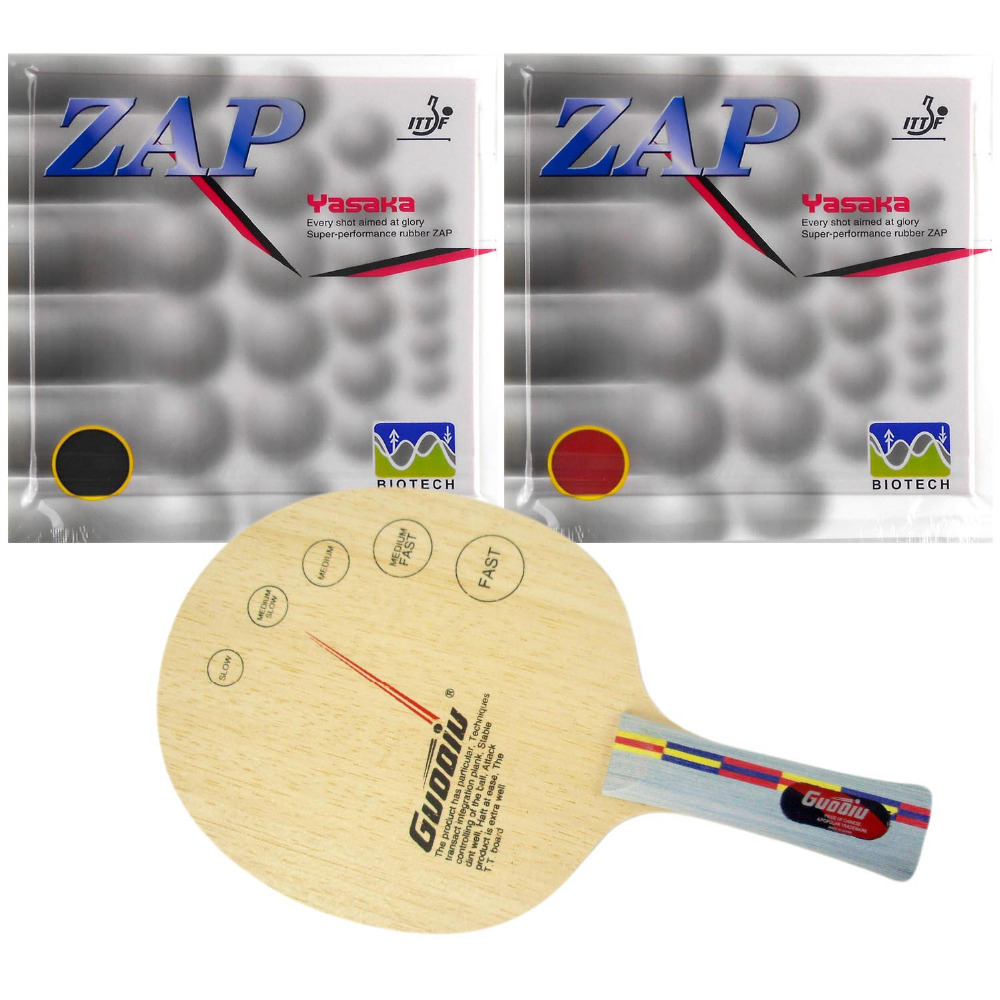 Pro Table Tennis PingPong Combo Racket  GuoQiu W-02 for children Blade with 2xYasaka ZAP-40mm NO ITTF Rubbers FL stiga celero wood ce table tennis blade for pingpong racket