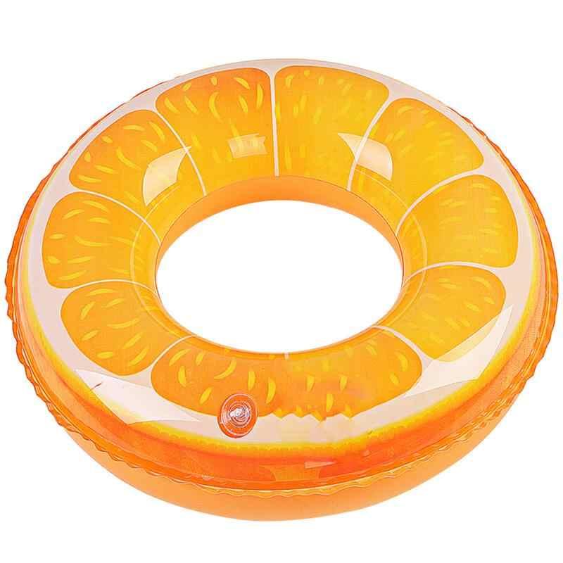 Бассейн плавает фрукты Оранжевый печати надувной бассейн кольцо бассейн пляж игрушки, пробки для детей