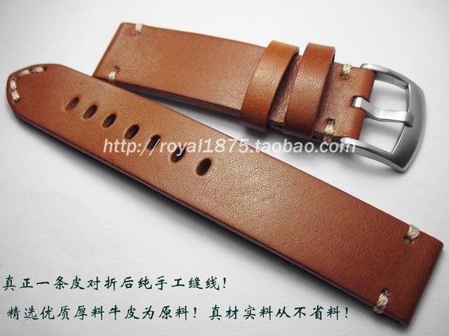 мужские ретро ремешки из натуральной кожи 18 19 20 21 22 мм фотография