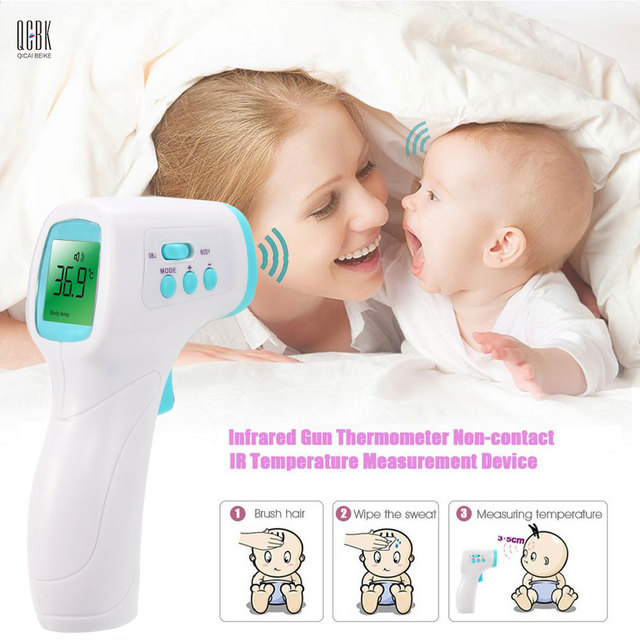 Electronic LCD Diagnostic-tool Adult/Baby Thermometer Infrared Non-contact Forehead Body Digital Termometro 3-Color Backlight