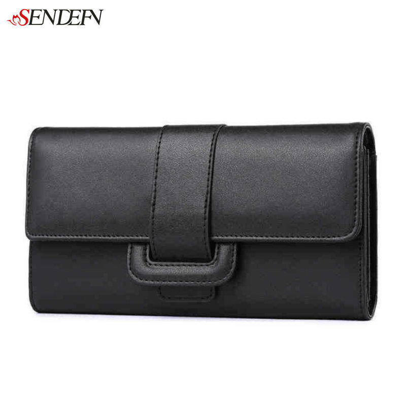 Second Layer of Cowhide Ladies Leather Wallet Women Brand Long Credit Card Holder Leather Female Purse Coin Money Bag For iPhone hot sale owl pattern wallet women zipper coin purse long wallets credit card holder money cash bag ladies purses