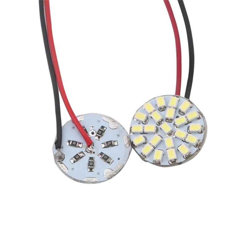 Festoon Adapters Panel Interior Dome Map Light Bulbs 4Pcs 22SMD 1206 LED T10