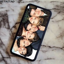 Fundas duras para teléfono KETAOTAO Friends Together para iPhone 4S 5C 5S 6 6S 7 8 Plus X para Samsung S8 NOTE funda Goma de TPU suave Silicona(China)