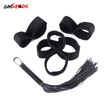 Smspade bdsm bondage Sex Handcuffs Restraints Slave Flogger Sex Toys For Woman Erotic Sex Shop Adult Sex Toy Bondage Cuffs Whips