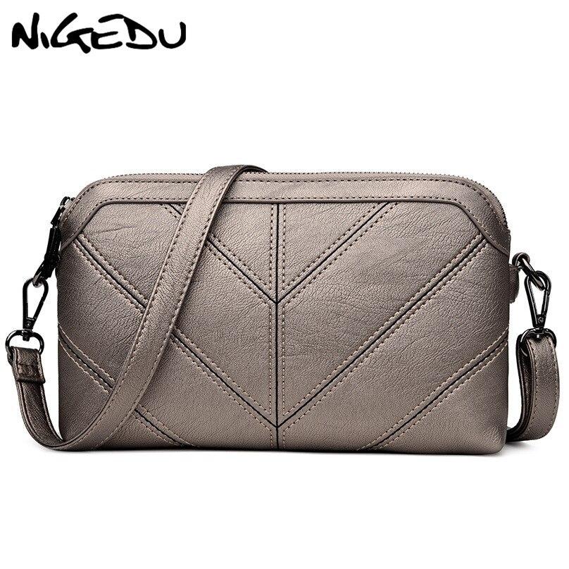 NIGEDU Marca donne Messenger bag di Alta qualità morbido PU borsa a tracolla Madre regalo Borse Crossbody delle Donne 2018 nuove Frizioni borse