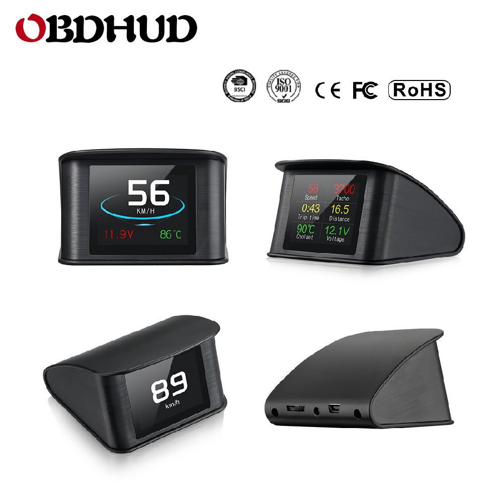 Image 2 - Genuine OBDHUD P10 OBD2 Tacho Pro Universal Dash Programmer Odometer OBD Digital Speed Meter ECT Engine Coolant Temperature-in Head-up Display from Automobiles & Motorcycles