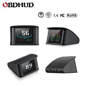 Image 3 - WiiYii OBD2 HUD P10รถHead Up Display OBD Digitalอุณหภูมิวัดความเร็วเมตรเครื่องยนต์Coolantอุณหภูมินาฬิกาปลุก