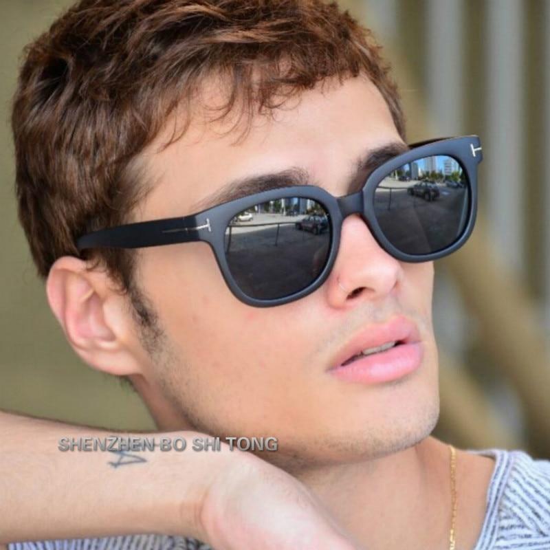 2019 Square James Bond Sunglasses Men Brand Designer GlassesWomen Super Star Celebrity Driving Sunglasses Tom for Men Eyeglasses in Men 39 s Sunglasses from Apparel Accessories