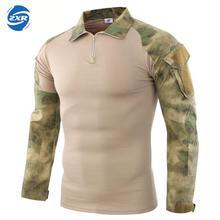 Руины камуфляжные армейские походные футболки мужские солдатские боевые тактические военные силы Мультикам камуфляж с длинным рукавом охотничья футболка