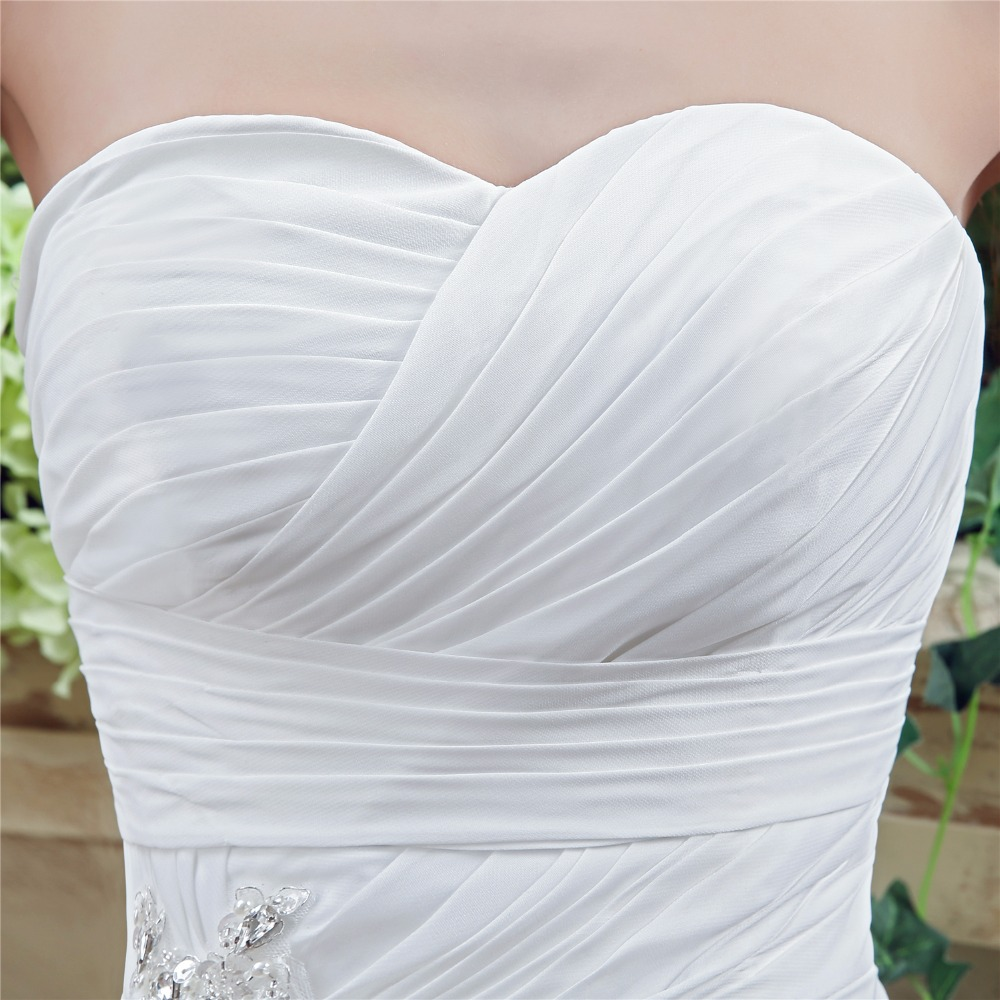 Simple Chiffon Wedding Dress Boho 2018 Corset Back Sweetheart ...