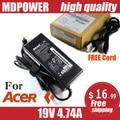 MDPOWER For ACER Aspire V5-571G V5-571P V5-571PG laptop power supply power AC adapter charger cord 19V 4.74A