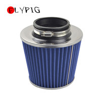 3 to 4 Round Tapered Universal Air Intake Cone Filter Chrome For Truck/SUV/Car