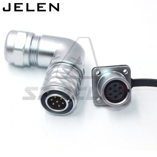 WEIPU SF1214P/SF1312S industriële kabel stekker en stopcontact ip67 waterdichte 7pin connector mannelijke en vrouwelijke draad connectoren