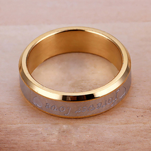 Women Men Forever Love Band Ring Engagement Engraving Couple Promise Gold Plated  6L84
