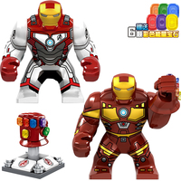 20Pcs/Lot Building Blocks Avengers 4 Endgame Space Iron Man Iron Monger Action Figures Toys For Children Gift D206