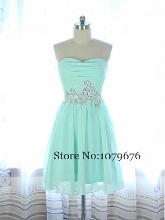 Plus Size Cheap Mint Green Short Dresses Strapless Crystal Girl Homecoming  Dresses Chiffon Semi Formal Dress Party Prom 255120c13