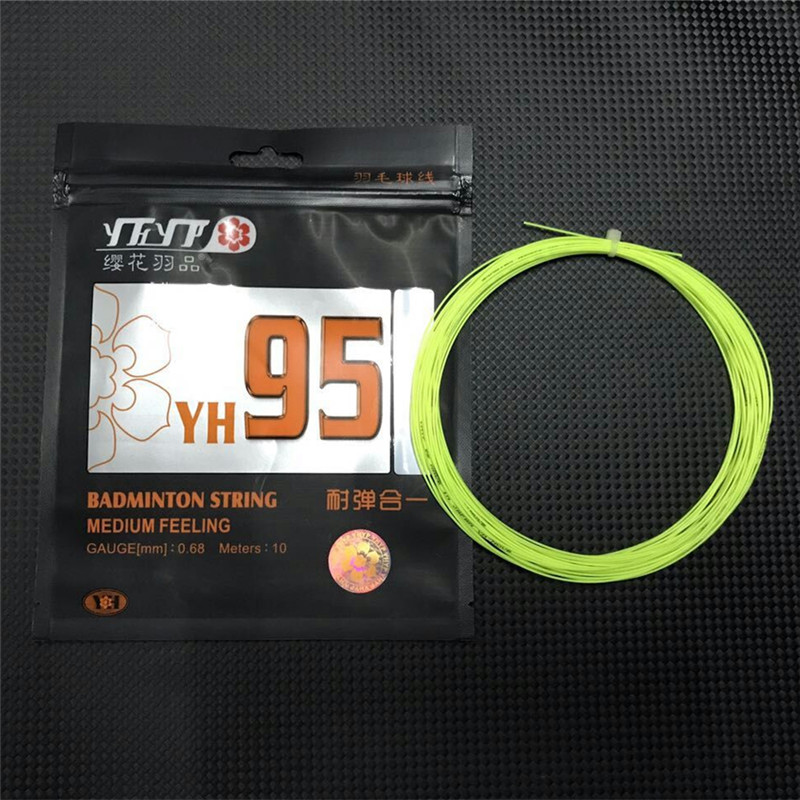 Good Badminton String Medium Feeling High Resilience 0.68mm Use For Badminton Rackets Super Rebound Bulk 28lbs YH95 Line L681