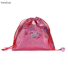 Hologram Star Women Drawstring Bag For Organizer Girls Summer Beach Bag Portable Cosmetic Makeup Storage Pouch