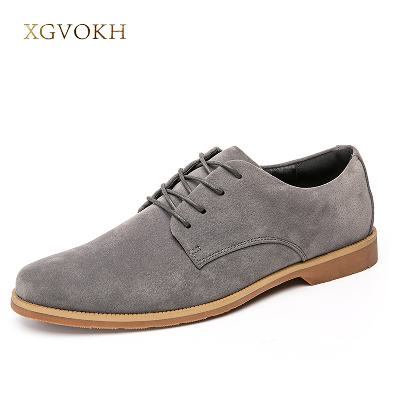 Men Shoes Casual Business Leather Flats Men's Shoes Spring Autumn Dress Lace-Up Black Shoes Fashion XGVOKH Brand Oxford hot sale mens italian style flat shoes genuine leather handmade men casual flats top quality oxford shoes men leather shoes