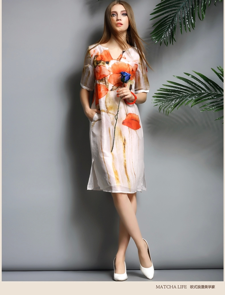 Women Plus Size Dress 2015 Summer