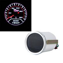 2016 New Standard 2″ 52mm White LED Display Water Temp Gauge Car Autometer Water Temperature Meter Sensor