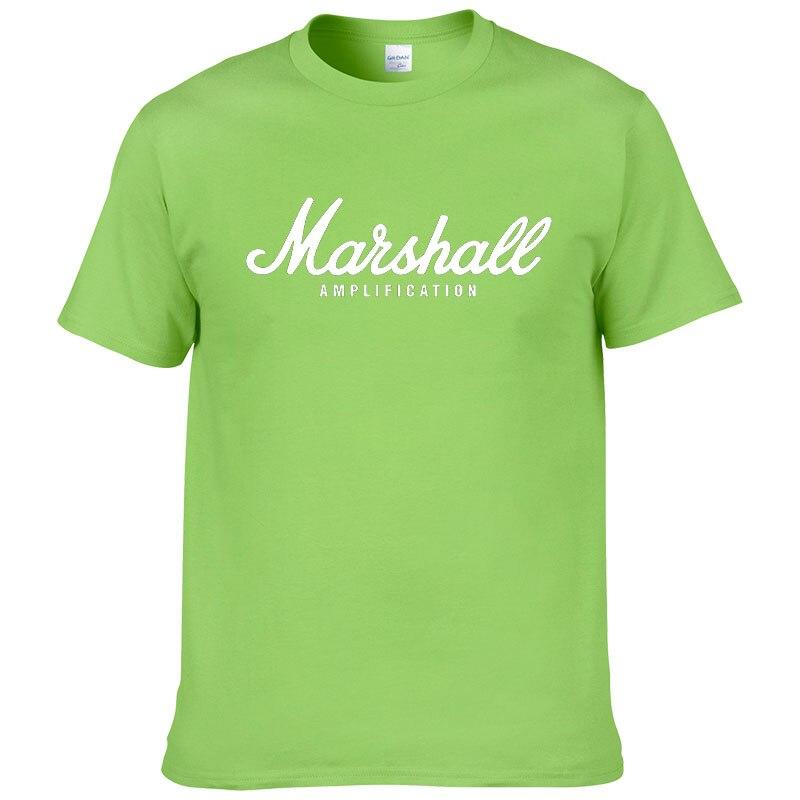 100% cotton Marshall T Shirt men short sleeves tee hip hop street wear for fans hipster 57