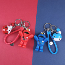 Cute Sesame Street Keychain Cartoon Red Elmo Cookie Monster Keyring for Girls Key Chain Or Men New Women