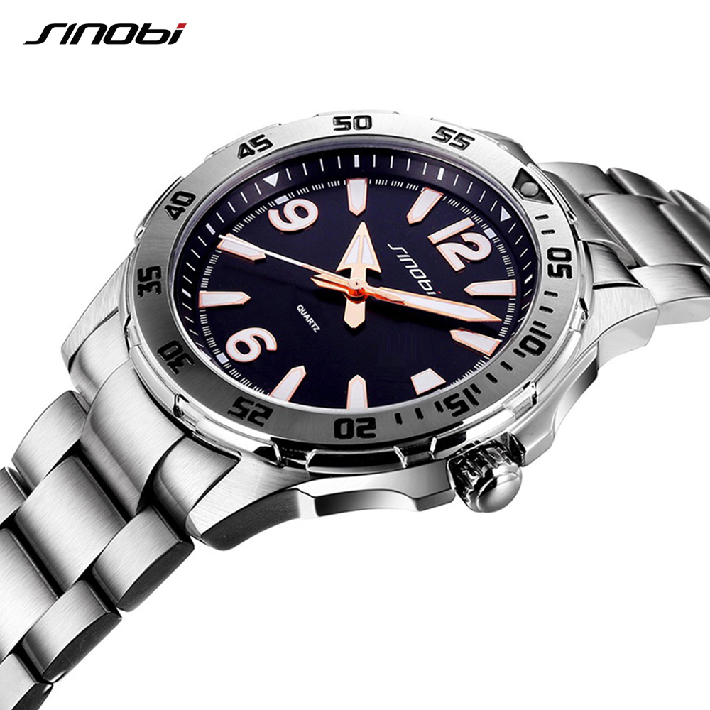 Business Men's Watches SINOBI Relogio Masculino for watch man Luxury Brand saat Sports Fashion Luminous Waterproof Wrist Watch цена в Москве и Питере