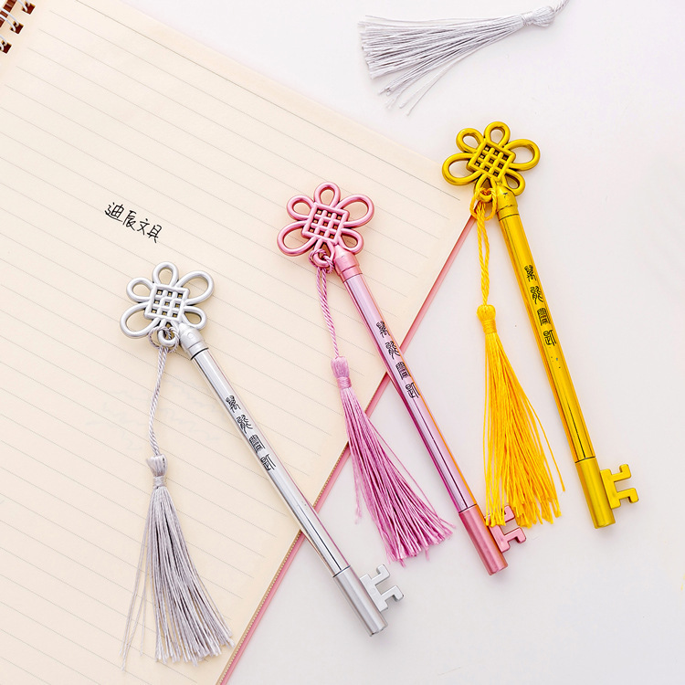 1PCS New Lovely Key Shape Gel Pen Student Stationery Novelty Gift School Material Office Supplies