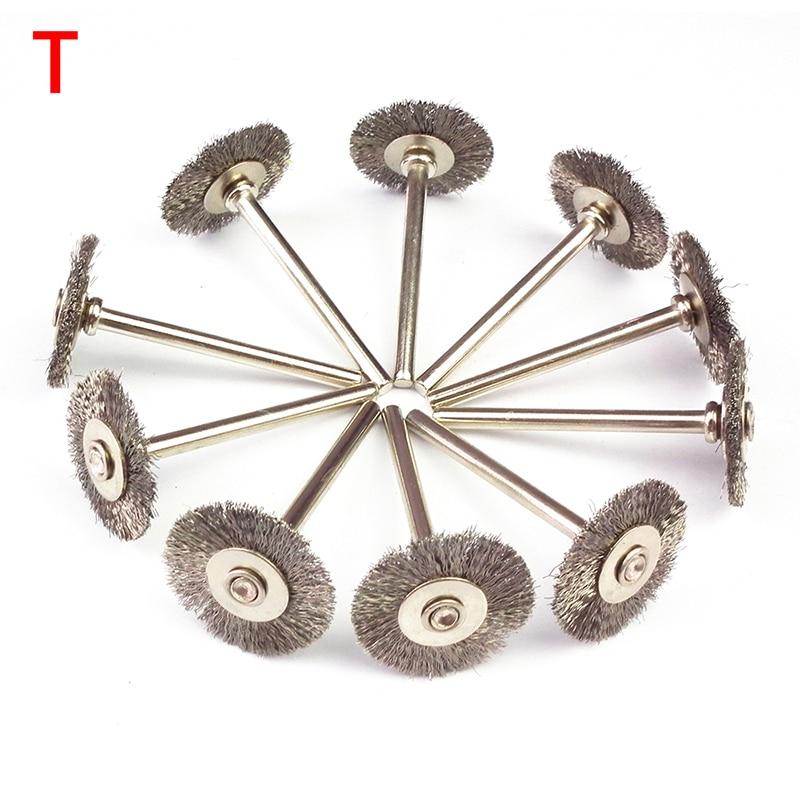 10ks mini rotační z nerezavějící oceli dráty kartáče malé - Brusné nástroje - Fotografie 5