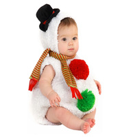 High Quality Plush Baby Snowman Vest with Hat and Scarf Set Toddler / Kids Halloween Christmas Costume