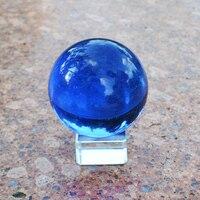 60mm Azji Rzadko Oscylatora Kwarcowego Kula Rzemiosło Niebieski Kolor Moda Ślubne Szklane Kulki DIY Home Decoration Powodzenia prezenty