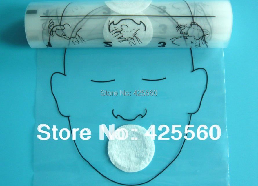 100 Rolls 36pcs roll CPR Face Masks Mouth To Mouth Protect Shields With One way Valve