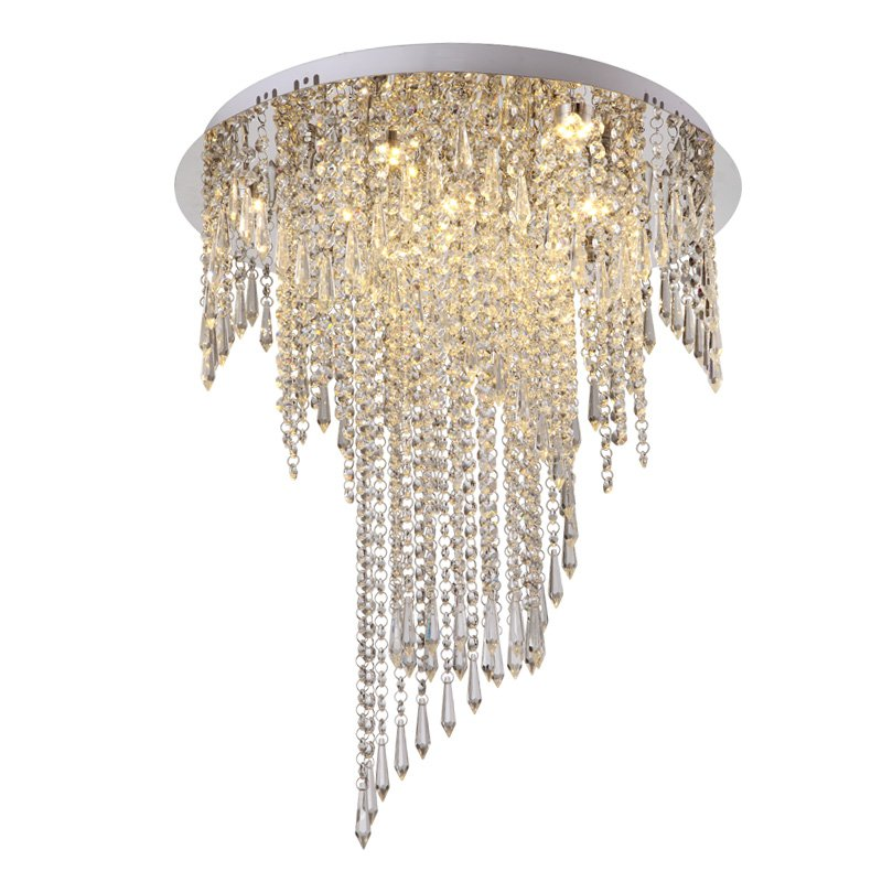 Morden Creative LED Crystal Hanging Stainless Steel Round